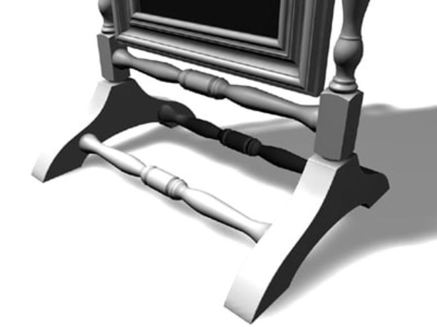 Floor Mirror.c4d royalty-free 3d model - Preview no. 3