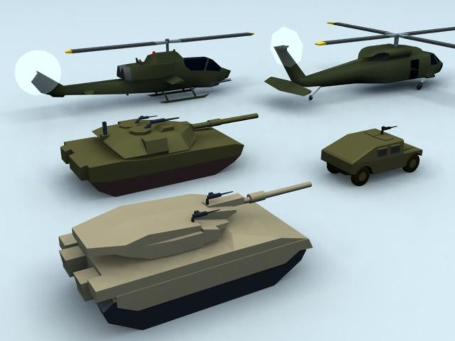 RT_5MilVehics-Pk1_3DS royalty-free 3d model - Preview no. 1