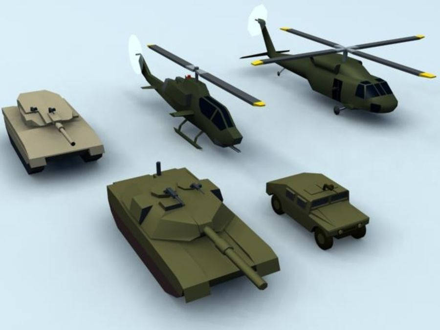 RT_5MilVehics-Pk1_3DS royalty-free 3d model - Preview no. 2