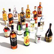 15 bottles 3d model