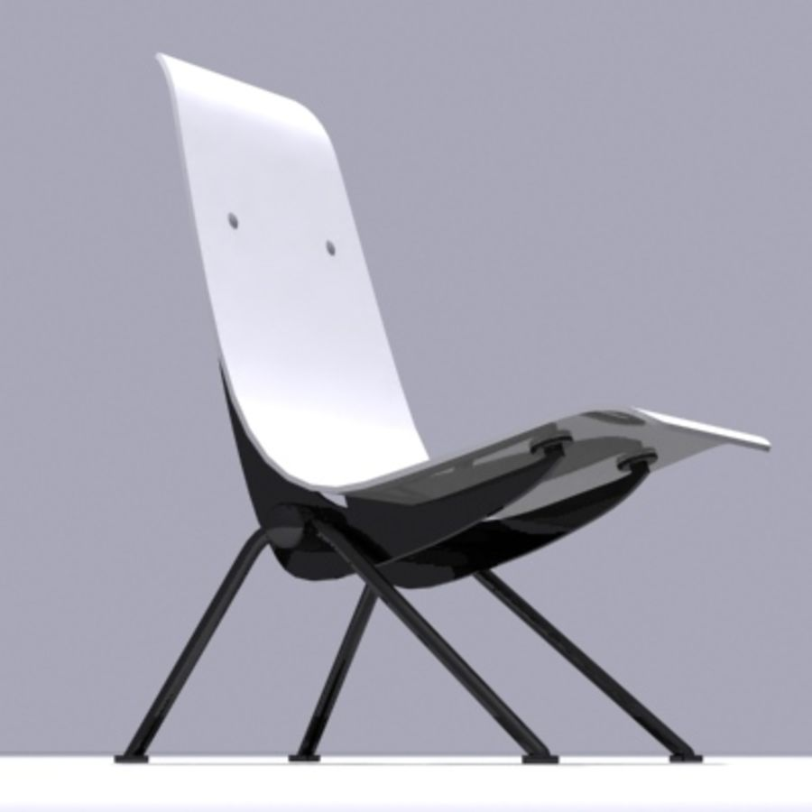 Antony Chair Jean Prouvé royalty-free 3d model - Preview no. 6