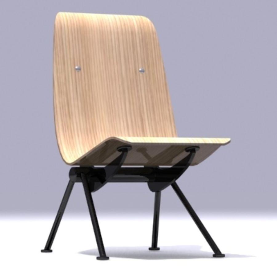 Antony Chair Jean Prouvé royalty-free 3d model - Preview no. 4