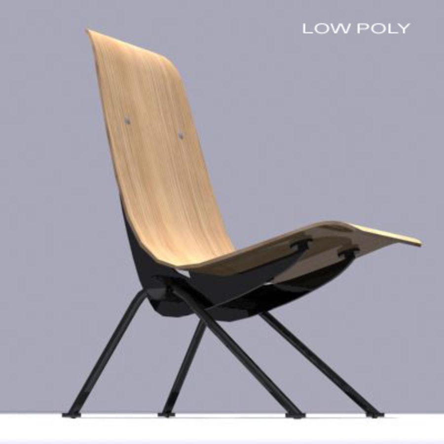 Antony Chair Jean Prouvé royalty-free 3d model - Preview no. 7