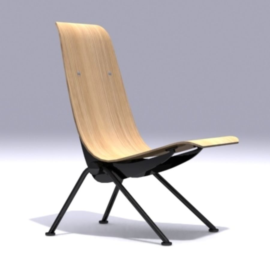Antony Chair Jean Prouvé royalty-free 3d model - Preview no. 2