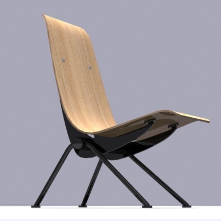 Antony Chair Jean Prouvé royalty-free 3d model - Preview no. 1