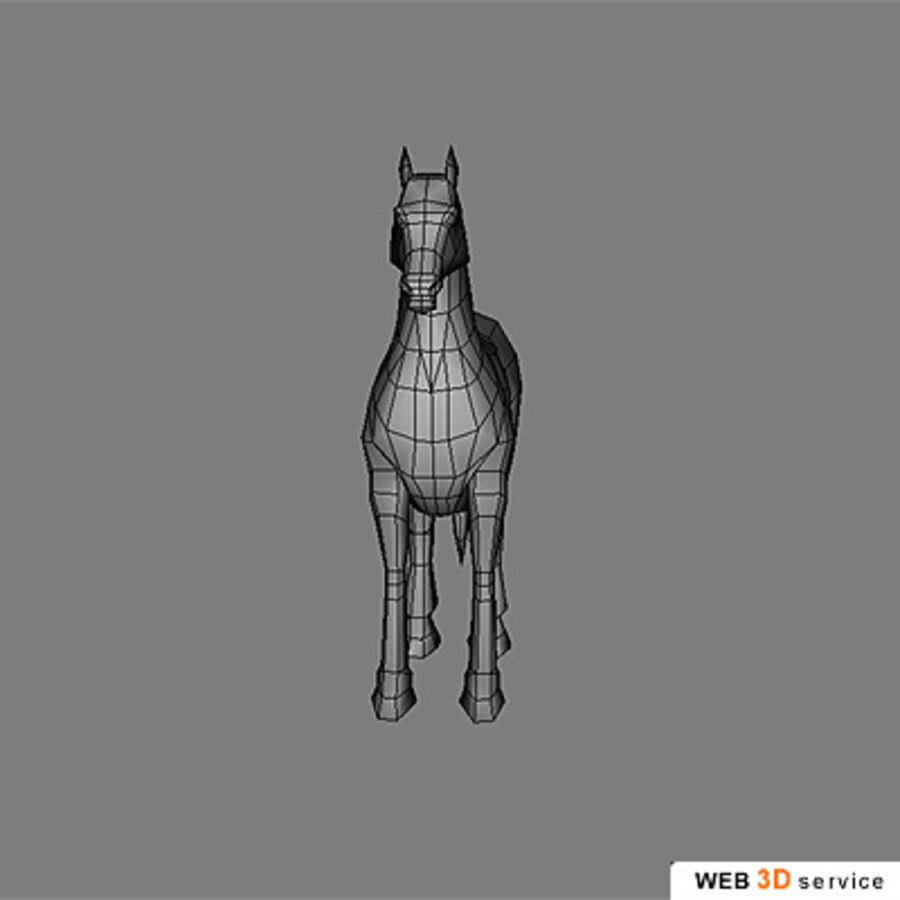 horse.3DS royalty-free 3d model - Preview no. 7