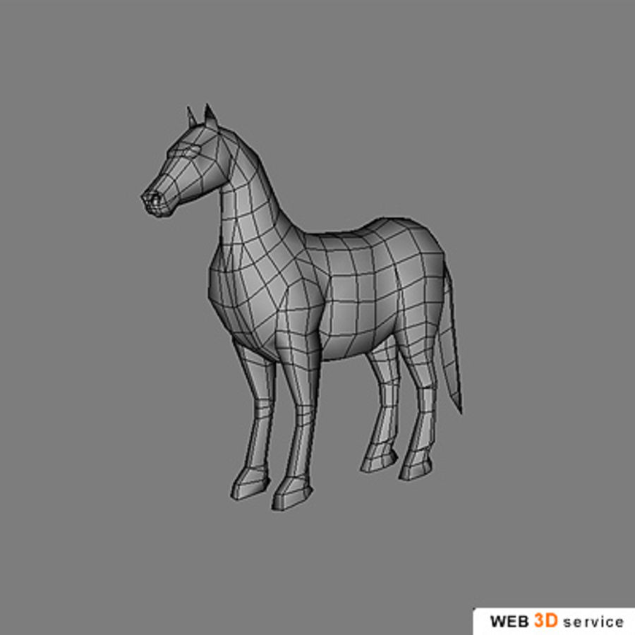 horse.3DS royalty-free 3d model - Preview no. 6