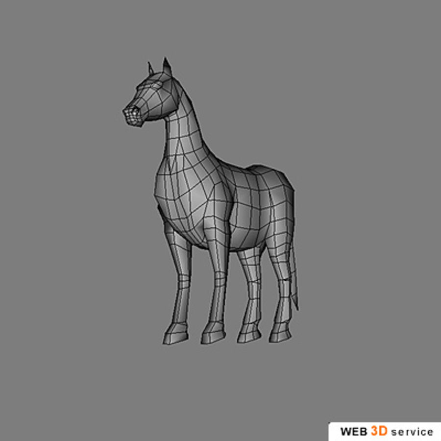 horse.3DS royalty-free 3d model - Preview no. 1