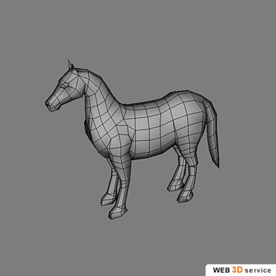 horse.3DS royalty-free 3d model - Preview no. 5