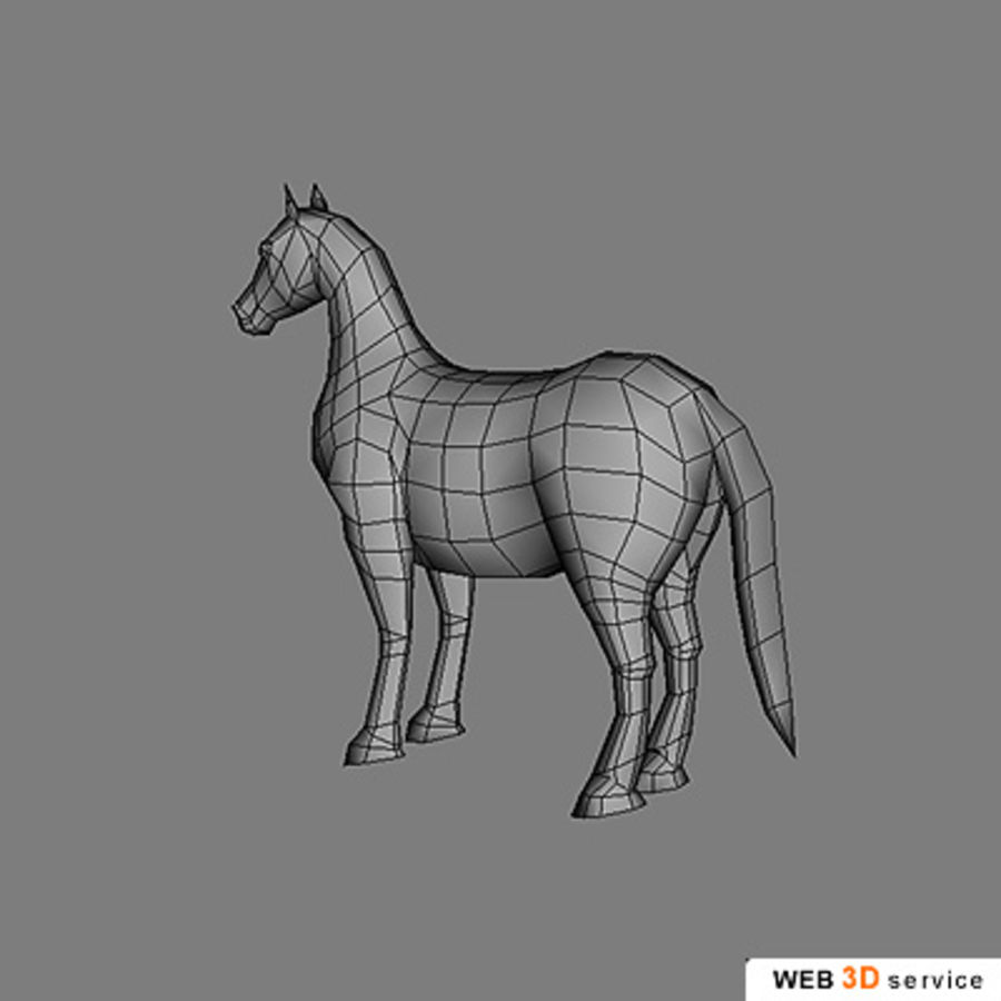 horse.3DS royalty-free 3d model - Preview no. 4