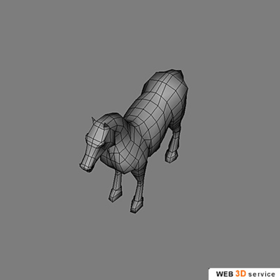 horse.3DS royalty-free 3d model - Preview no. 3