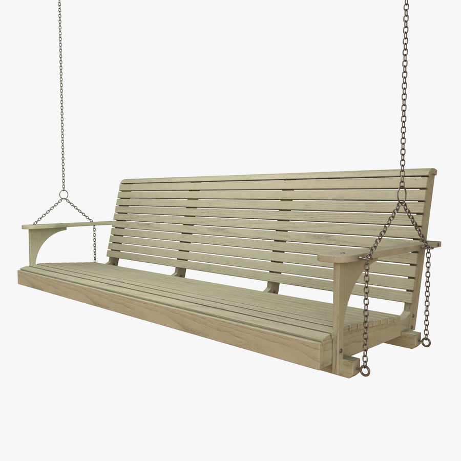 Porch Swing royalty-free 3d model - Preview no. 1