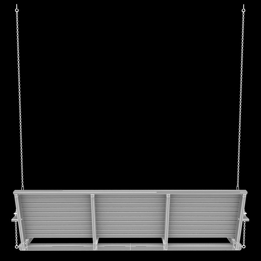Porch Swing royalty-free 3d model - Preview no. 11