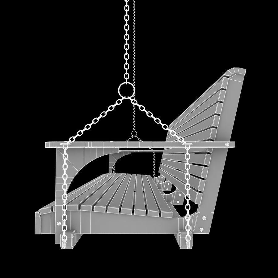 Porch Swing royalty-free 3d model - Preview no. 7