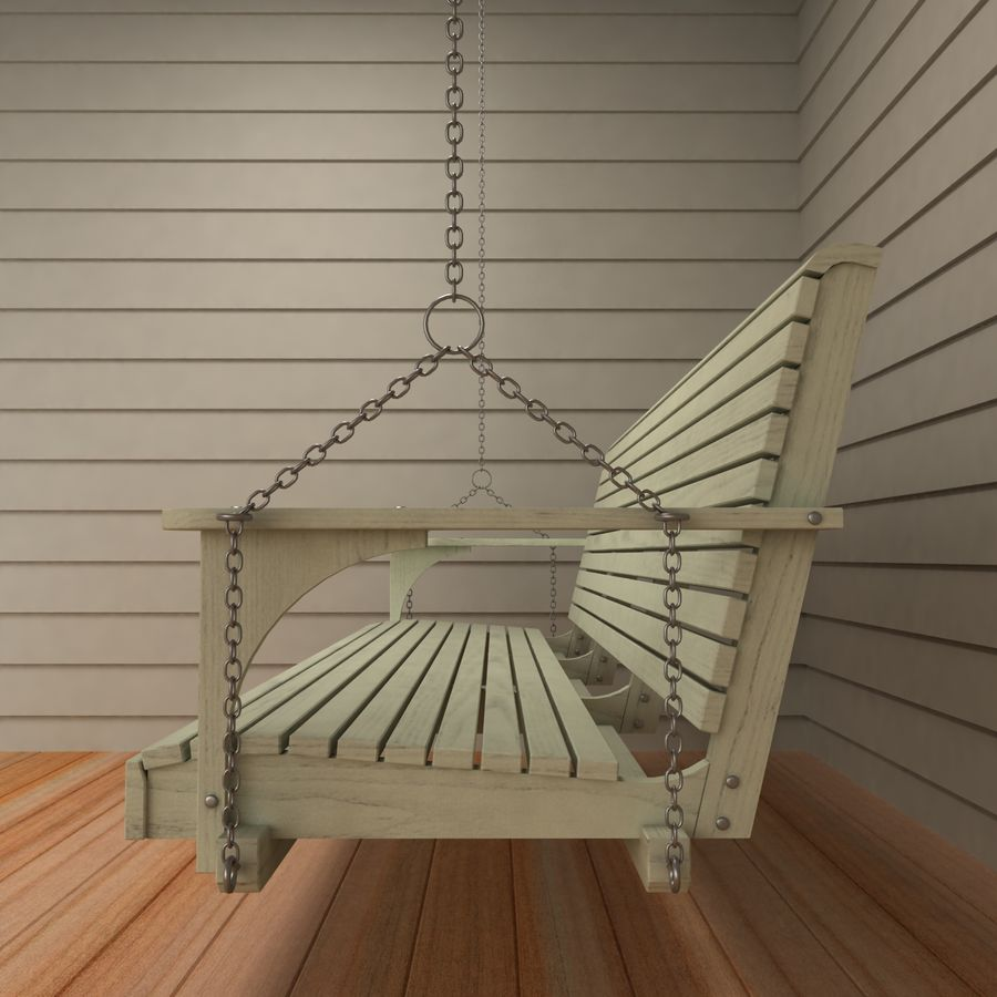 Porch Swing royalty-free 3d model - Preview no. 6