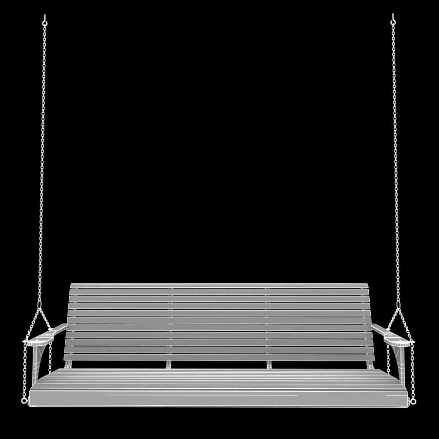 Porch Swing royalty-free 3d model - Preview no. 5