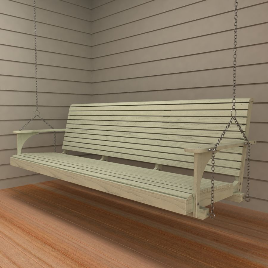 Porch Swing royalty-free 3d model - Preview no. 2
