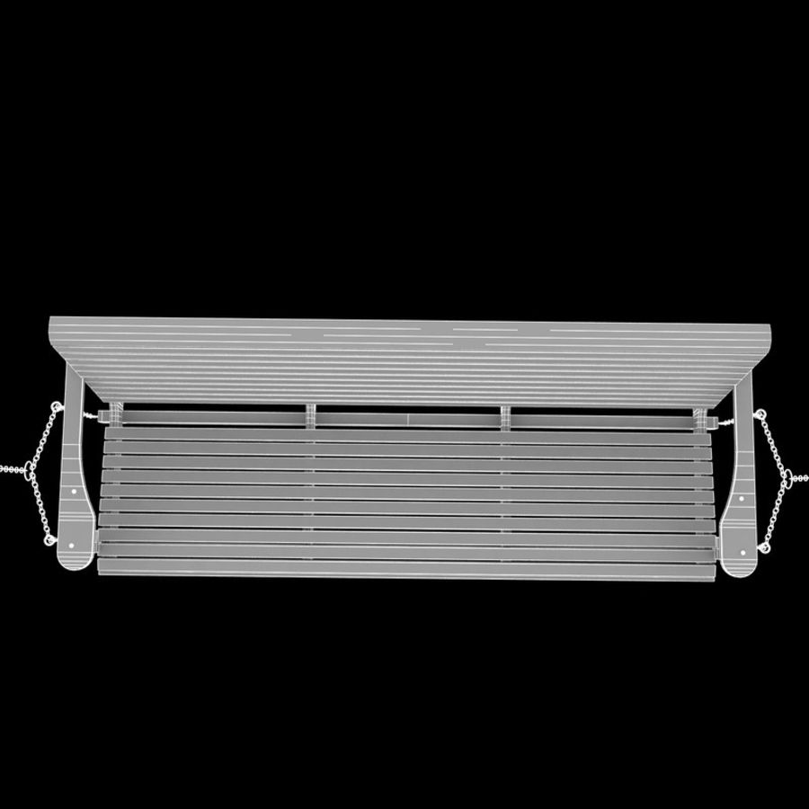 Porch Swing royalty-free 3d model - Preview no. 9