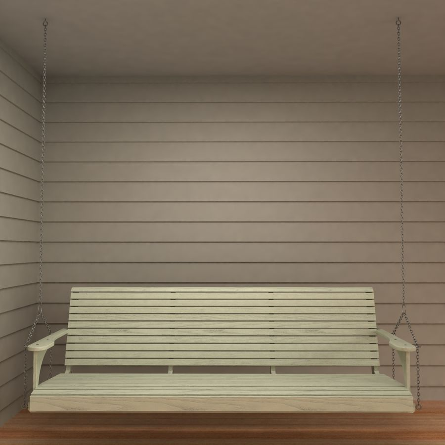 Porch Swing royalty-free 3d model - Preview no. 4