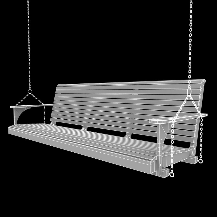 Porch Swing royalty-free 3d model - Preview no. 3
