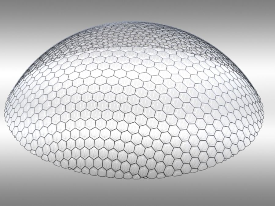 50 Meter Geodesic Dome royalty-free 3d model - Preview no. 5