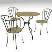 ガーデンマックスのテーブルと椅子 3d model