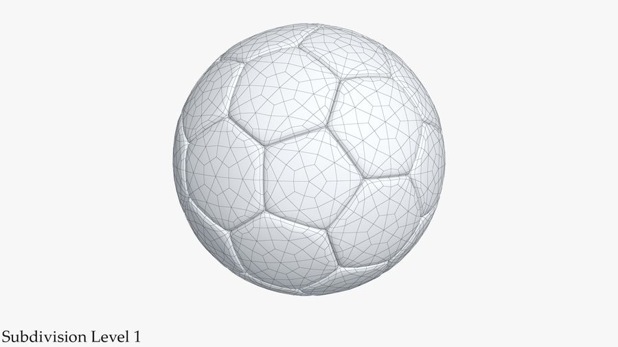 Football royalty-free 3d model - Preview no. 7