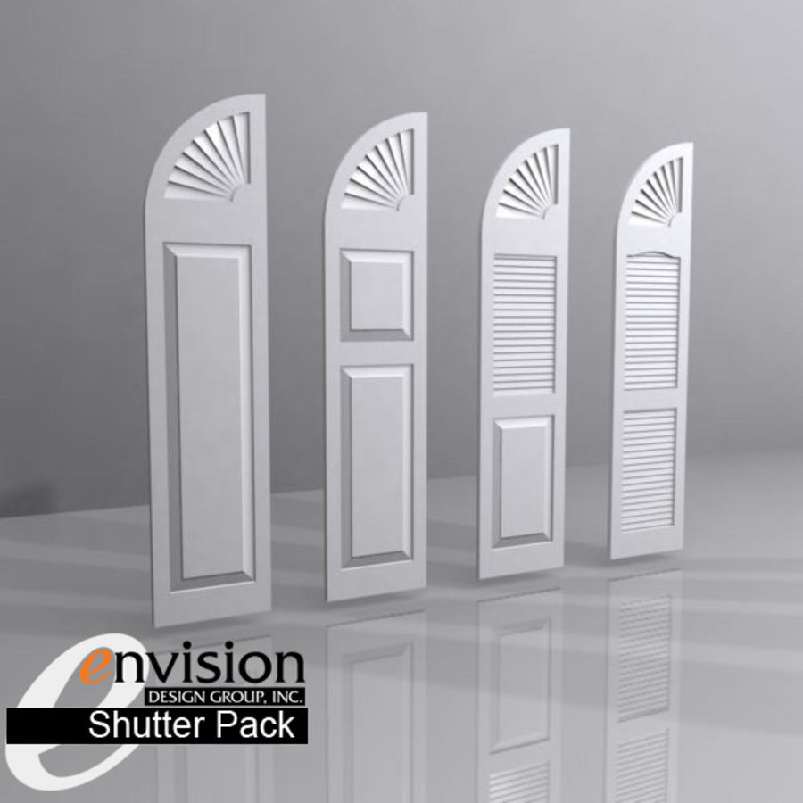 Shutter Collection royalty-free 3d model - Preview no. 3