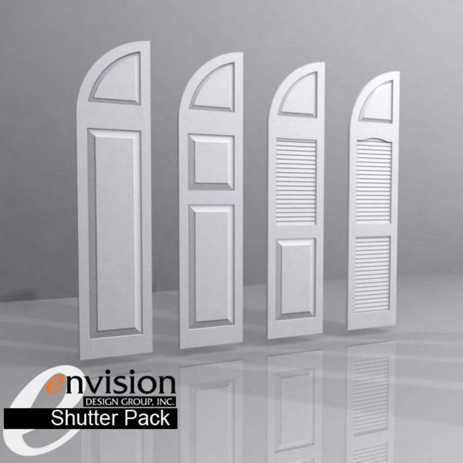 Shutter Collection royalty-free 3d model - Preview no. 4