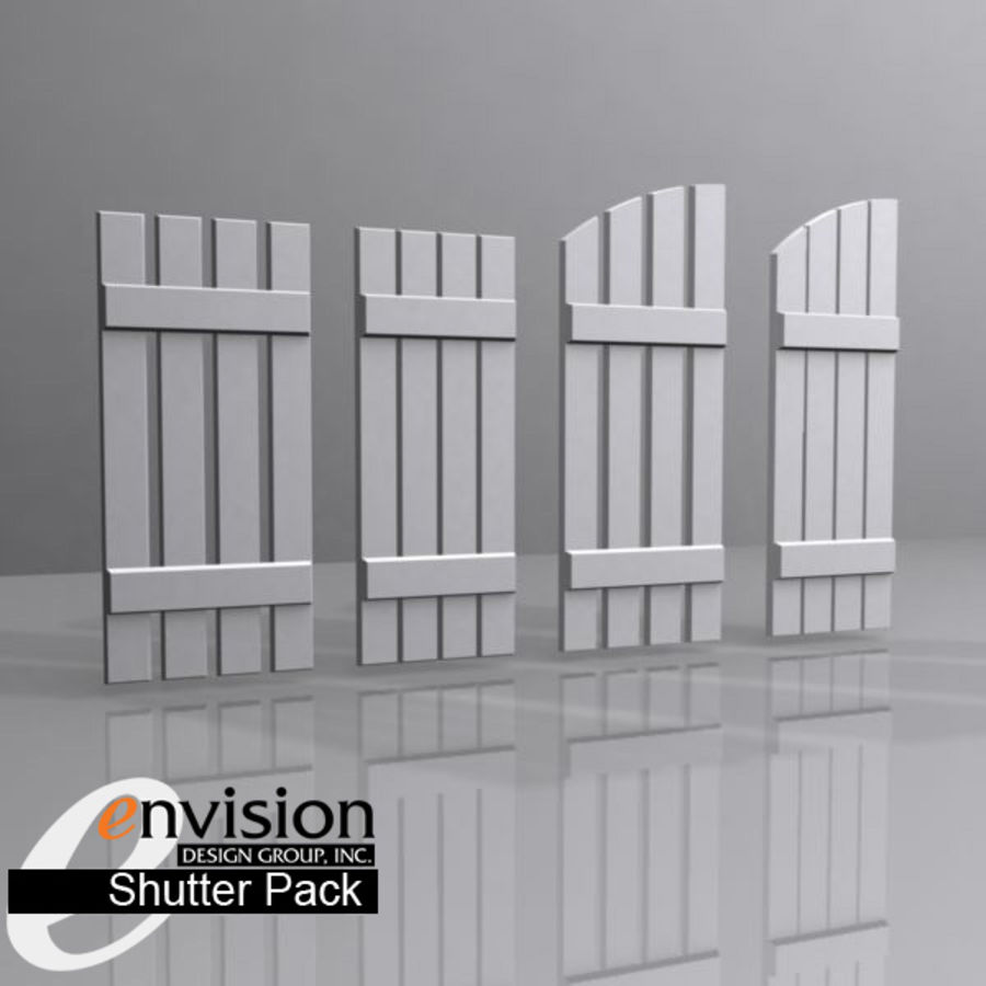 Shutter Collection royalty-free 3d model - Preview no. 5