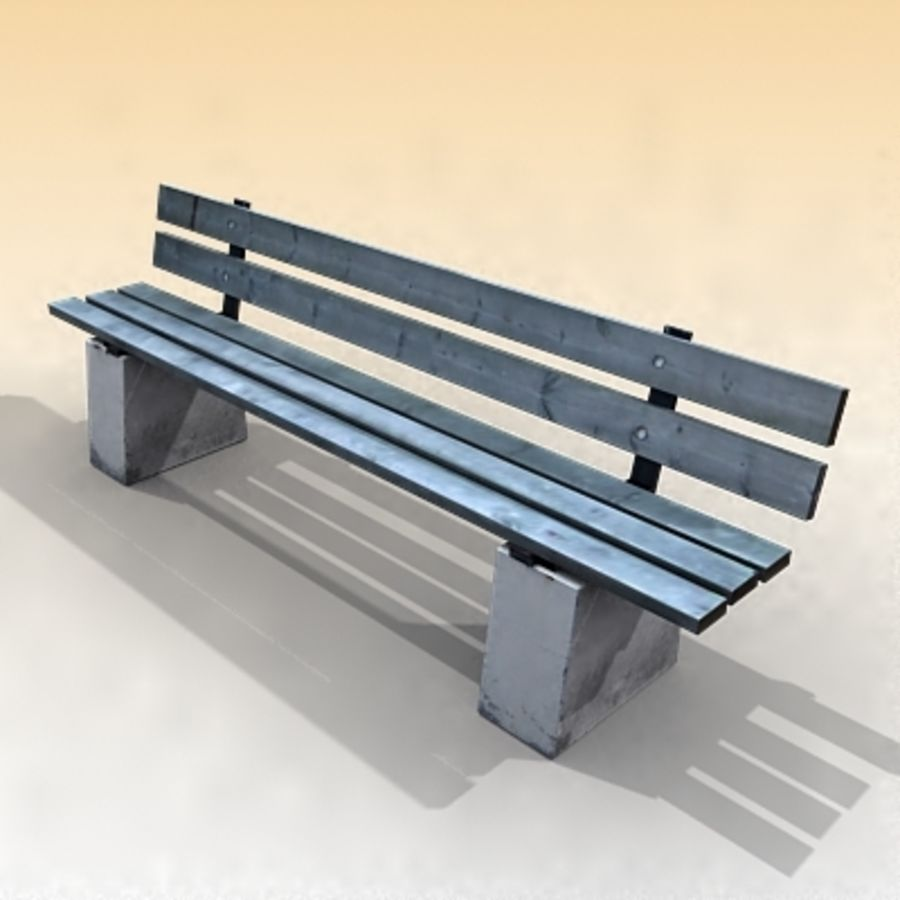 Bench royalty-free 3d model - Preview no. 1