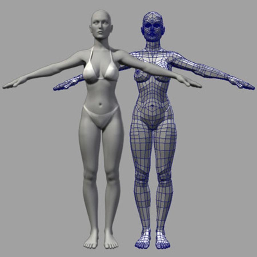 Grundlegende weibliche Maschen royalty-free 3d model - Preview no. 1