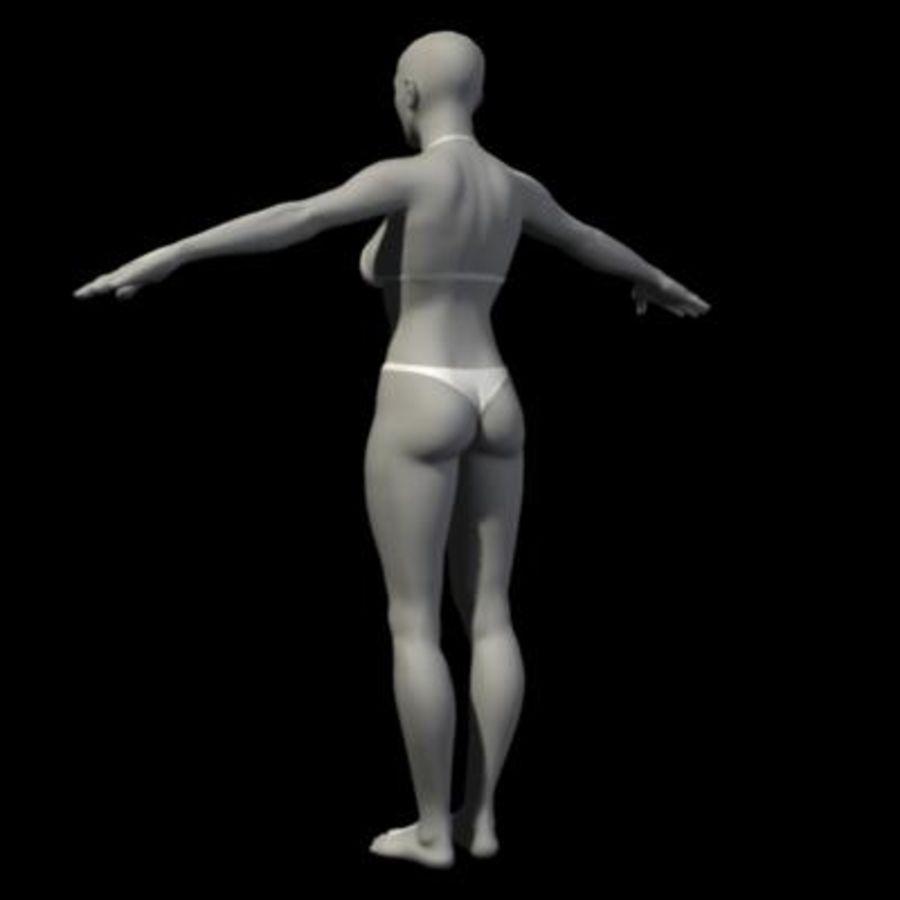 Grundlegende weibliche Maschen royalty-free 3d model - Preview no. 3