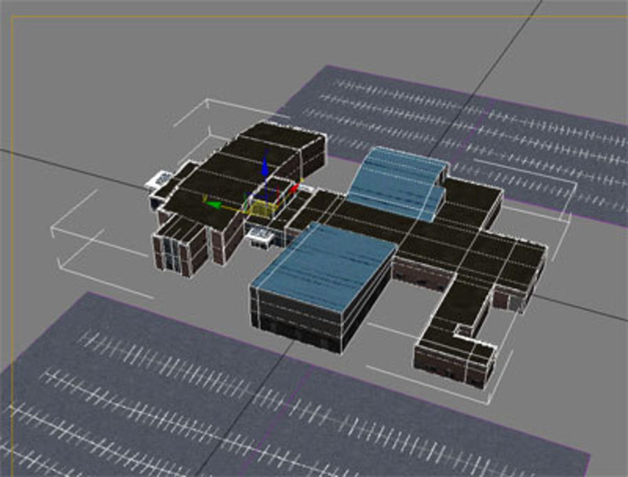 School building royalty-free 3d model - Preview no. 2
