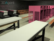 Элементы тренажерного зала 3d model