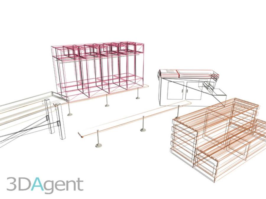 Elementy siłowni royalty-free 3d model - Preview no. 7