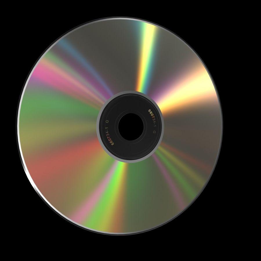 CD DVD 디스크 royalty-free 3d model - Preview no. 3