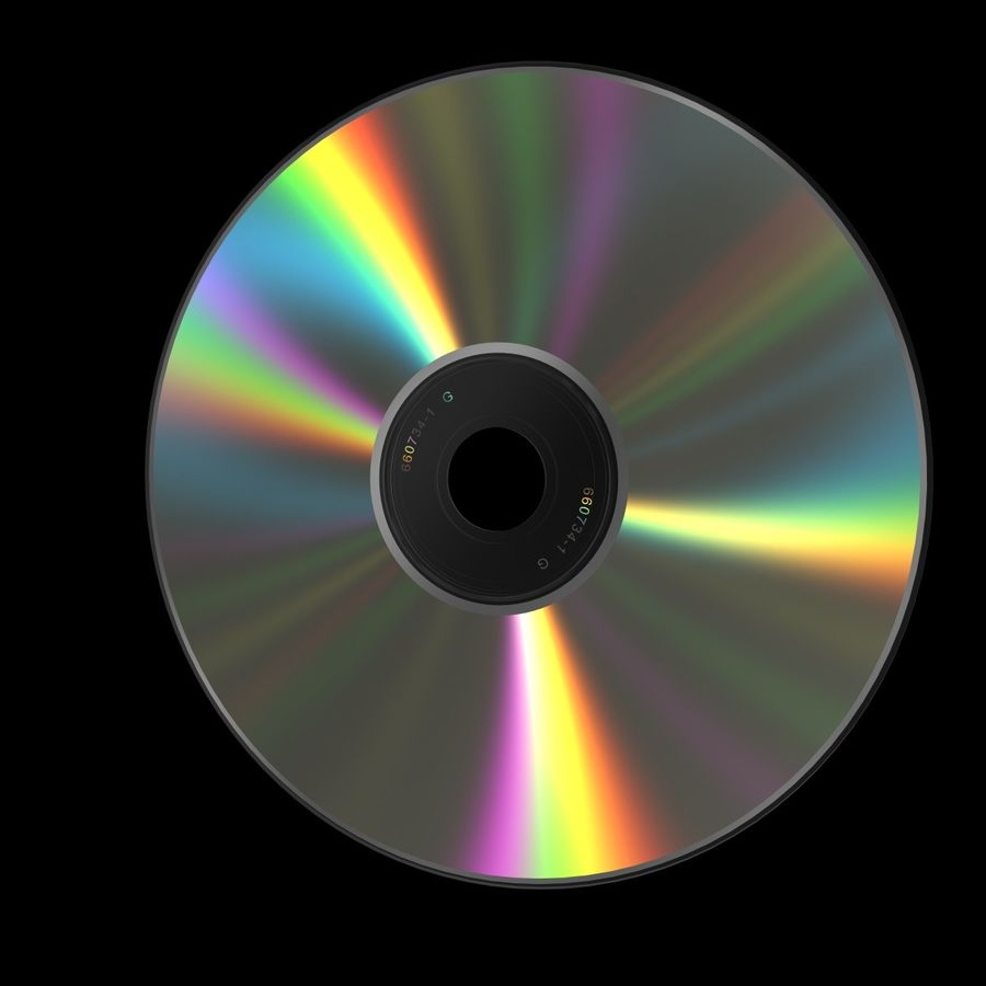 CD DVD 디스크 royalty-free 3d model - Preview no. 2