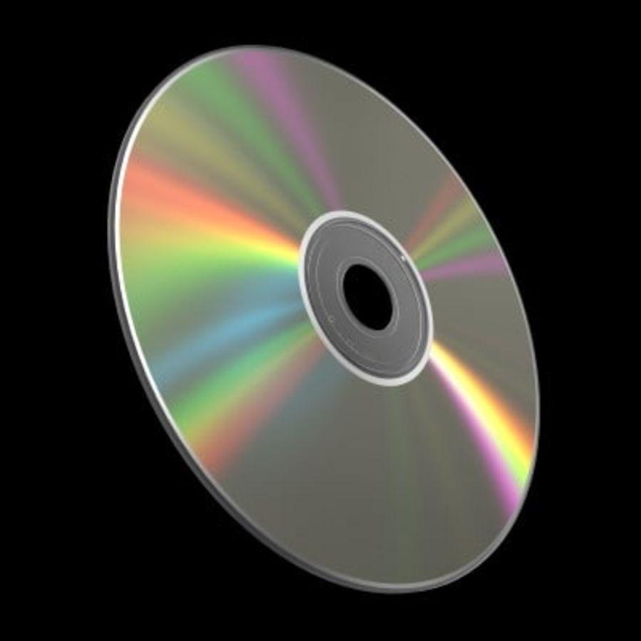 CD DVD 디스크 royalty-free 3d model - Preview no. 4