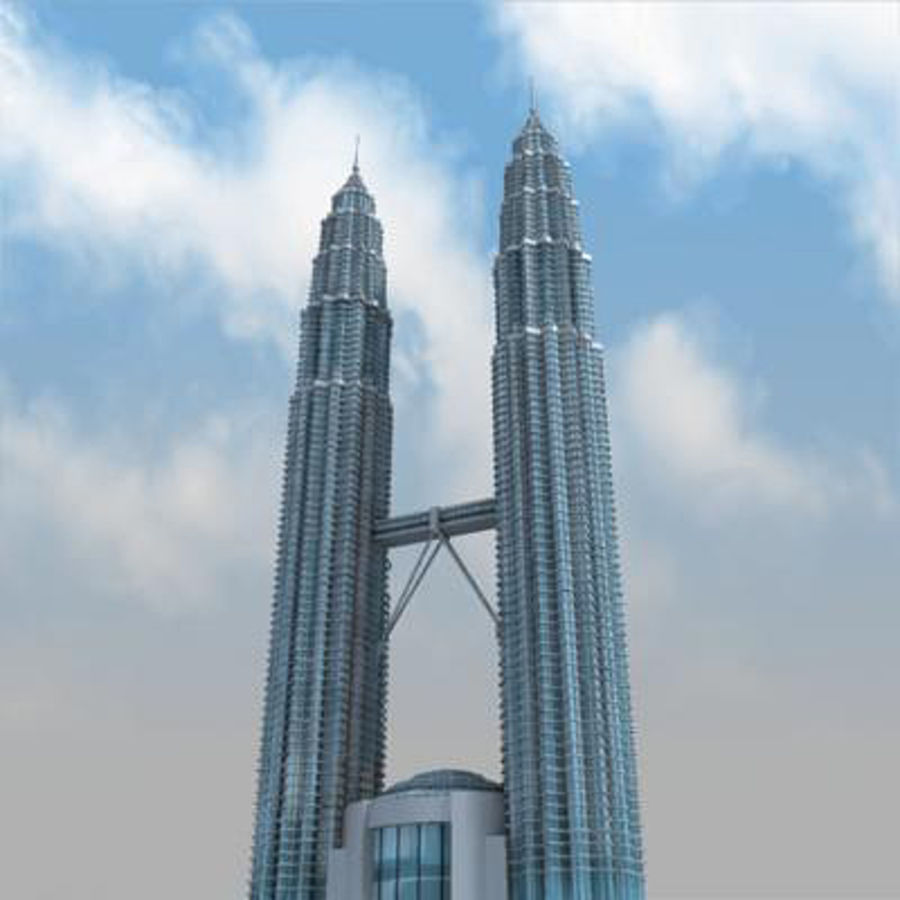 Petronas Towers royalty-free 3d model - Preview no. 7