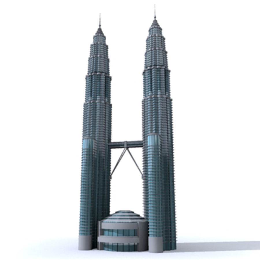 Petronas Towers royalty-free 3d model - Preview no. 1