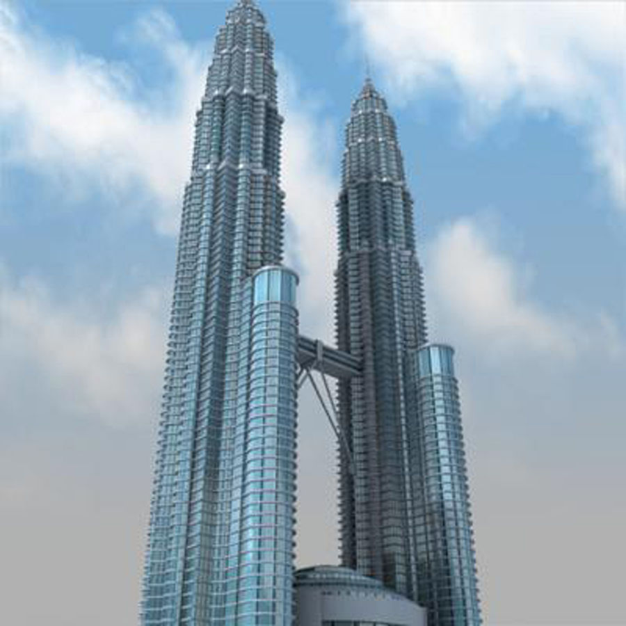 Petronas Towers royalty-free 3d model - Preview no. 4