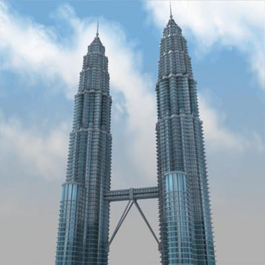 Petronas Towers royalty-free 3d model - Preview no. 3