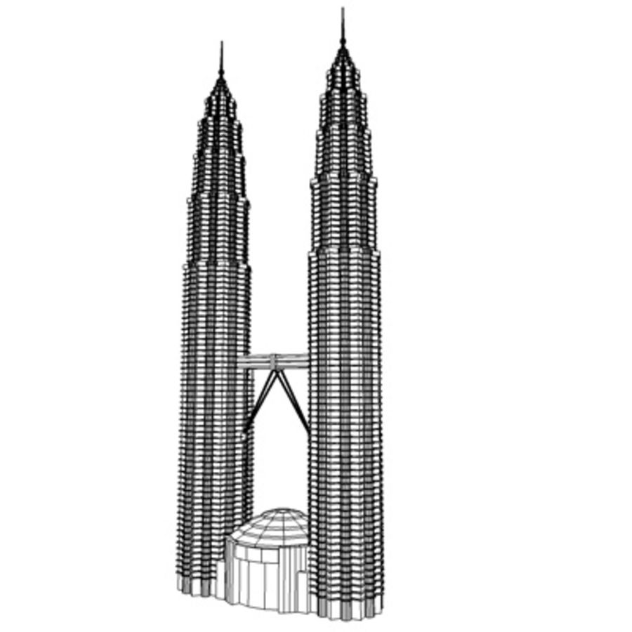Petronas Towers royalty-free 3d model - Preview no. 11