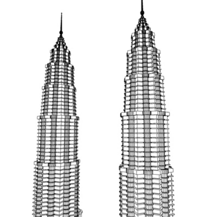 Petronas Towers royalty-free 3d model - Preview no. 12
