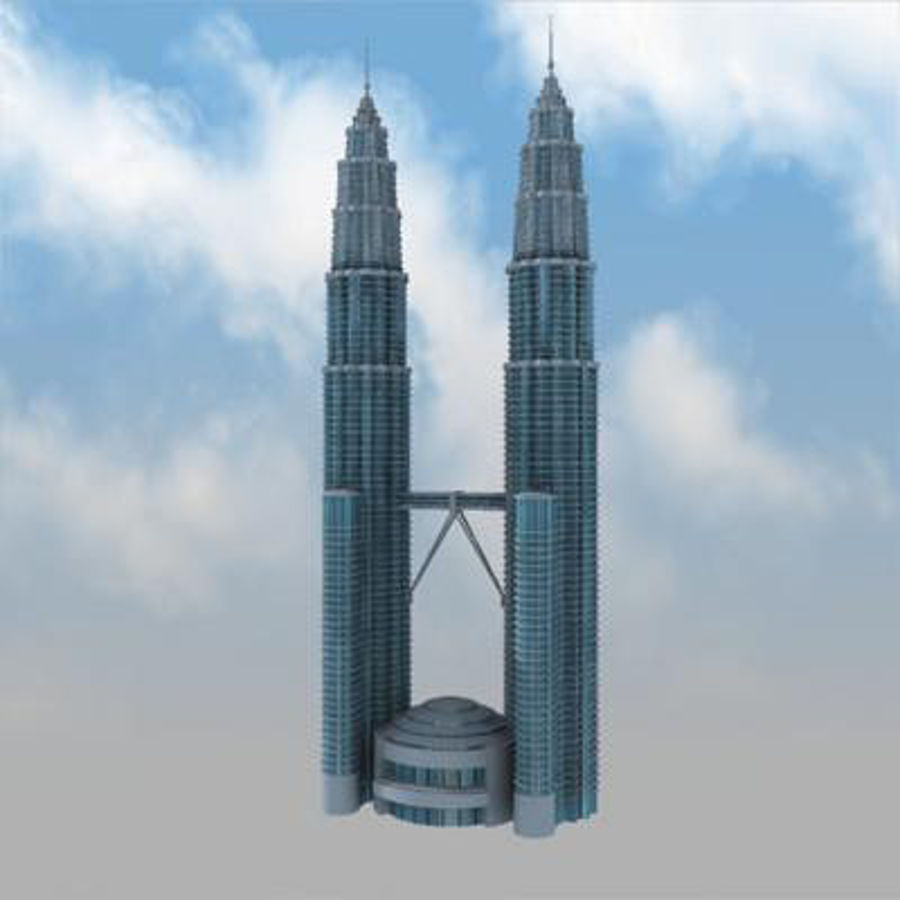Petronas Towers royalty-free 3d model - Preview no. 6