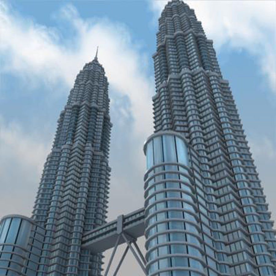 Petronas Towers royalty-free 3d model - Preview no. 5