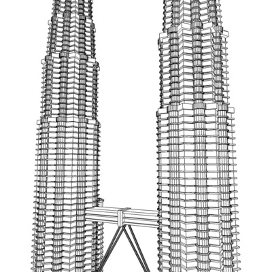 Petronas Towers royalty-free 3d model - Preview no. 10