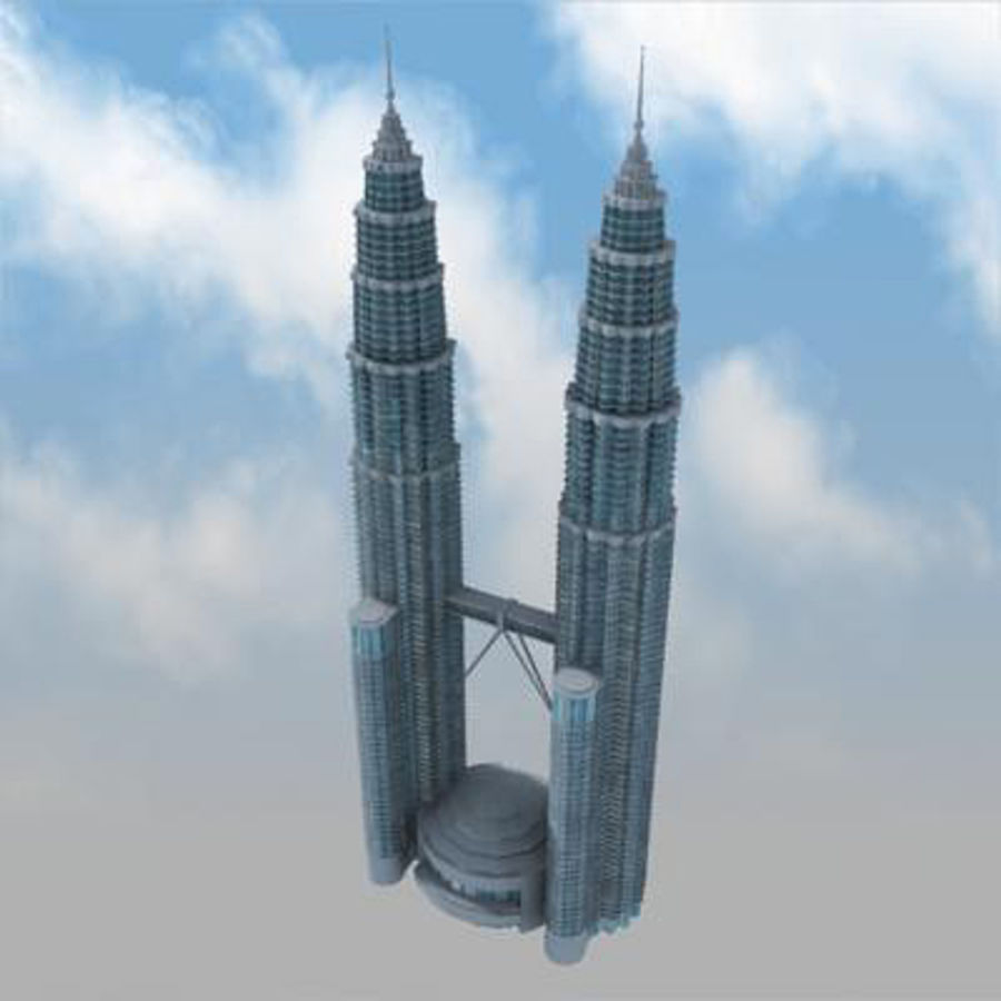 Petronas Towers royalty-free 3d model - Preview no. 9