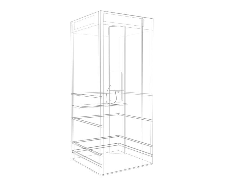 Phone Booth royalty-free 3d model - Preview no. 3